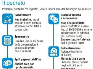 Decreto dignità, Marciano: aumentare contribuzione per imprese strada impervia per aumentare occupazione