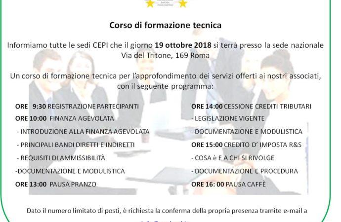CORSO DI FORMAZIONE TECNICA